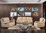 Sofá da sala de visitas com o sofá moderno do couro genuíno ajustado (768)