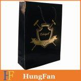 Sac à provisions de mode de cordon de fournisseur d'usine avec le logo de Hotstamping d'or