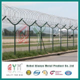공항 Security Mesh Fence 또는 날카롭 철사를 가진 Airport Security Fence
