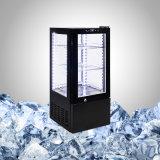 Réfrigérateur de boisson de partie supérieure du comptoir avec 4 glaces latérales