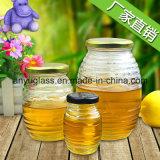 ジャムの食糧、蜂蜜、込み合い、ピクルスのための蜂蜜のガラス瓶
