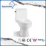 Toalete cerâmico do armário de duas partes de Siphonic do banheiro (AT1040)