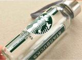 Frasco de vidro vazio, frasco inoxidável portátil do tampão, empacotamento de vidro por atacado de Starbuck