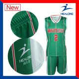 Basket-ball chaud Jersey de sublimation de vente de Healong