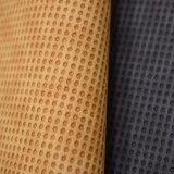 円によって浮彫りにされる総合的なPUの革織り目加工ののどの靴革