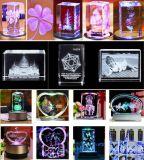 Glaslaser-Gravierfräsmaschine-LaserEngraver des kristall-3D (HSGP-3KC)