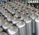 さまざまな専門のガスのための継ぎ目が無いアルミニウム空気タンク