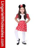 Costume причудливый платья Cosplay мыши Минни малышей для девушок