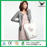Bolsos de mano coreanos de la tela de lana basta de la lona del algodón del diseñador