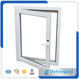 Ventana fija modificada para requisitos particulares fábrica del perfil del PVC con la red plástica de cristal doble gruesa de la ventana/de mosquito del marco de Glass/5+12A+5mm