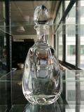 Rote Glaswein-Flasche für Spiritus