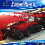 Dolly Trailer를 가진 6 120ton 3 Line Axles Low Bed Trailer