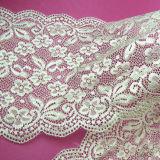 Laço de nylon da tela do bordado da forma do laço do vestido