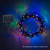 luz solar colorida de la cadena de la decoración LED de la lámpara de la Navidad 2016 100LED