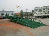 トラックのローディングのための重い容量の調節可能な油圧ヤードの安い傾斜路