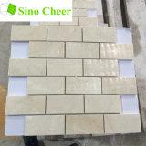 Prezzo di pietra naturale delle mattonelle della parete del mosaico del mattone della Spagna Crema Marfil