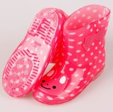 Ботинок дождя ребенка студня шаржа обувает ботинки дождя PVC малышей