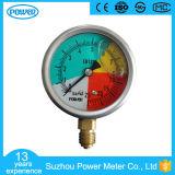 usine remplie par liquide d'indicateur de pression d'échelle isométrique de 63mm