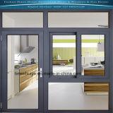 Schiebendes Aluminiumfenster mit dem ausgeglichenen (abgehärteten) Glasieren