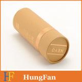 Contenitore di regalo impaccante cosmetico del cilindro del tondo di carta del cartone del Brown Kraft