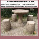 玄武岩公園表および椅子の石造りの庭表セット