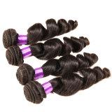 Do cabelo peruano do Virgin de Bhf onda frouxa 4 pacotes da tecelagem Curly frouxa peruana BRITÂNICA do cabelo humano do cabelo 7A 100% do Virgin do cabelo do Weave dos Peruvian