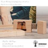 Cadre en bois du beau dessin animé fait sur commande USB de Hongdao avec USB en bois Wholesale_L