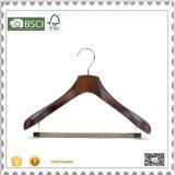 Gancho de madeira barato feito sob encomenda do terno do gancho de revestimento para a loja de pano