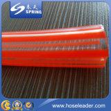 Le niveau clair de PVC de plastique renforcent le boyau transparent
