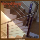 Intérieur escalier en acier inoxydable et main courante en bois Balustrade Garde-corps pipe ( SJ- 618 )