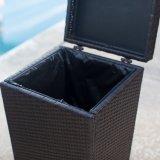 健康なFurnir T-032の柳細工の屋外のゴミ箱