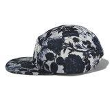 Chapéus Sublimated etiqueta tecidos costume do painel da cinta de couro 5 do campista