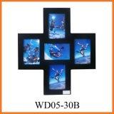 Раскрывая картинная рамка способа 5 деревянная (WD05-30B)