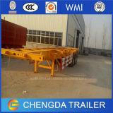 China Fabrica 3 de Lage Prijs van de Aanhangwagen van de Container van het Skelet van de As 20FT 40FT