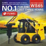 Caricatore del manzo di pattino del caricatore Ws65 della rotella con il motore diesel dell'inclusione