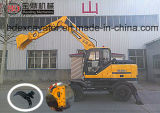 Excavatrice de roue de la meilleure vente de la Chine petite avec le foret de Rotory/Grasper/marteau cassé