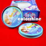 Круглые комплекты коробки книги карточки игры печатание девушки