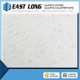 Bancadas artificiais de quartzo das lajes brancas da pedra de quartzo da cor