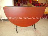 Tableau mobile pliable en bois de restaurant de pli en acier d'entremise premier