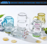 Glasspeicher-Glas der frucht-450ml mit Griff-Goldkappe