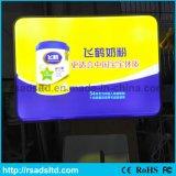 Casella chiara di pubblicità di succhiamento acrilica d'attaccatura del LED