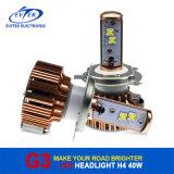 coche alto-bajo del bulbo de los bulbos 40W/Each de la linterna del coche H4 LED de la viga 3600lm que labra con 6000k fuente del CREE LED