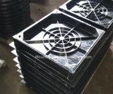 Tampa de câmara de visita betuminosa preta do D.I. com molde de alumínio