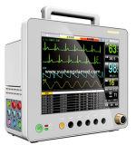 Equipamiento médico aprobado del Ce del monitor paciente del multiparámetro de la cabecera de 12.1 pulgadas