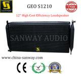 """Geo S1210 12の""""プロ音声PAシステム、BiAmpedのスピーカーラインアレイシステム"""