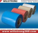 Couleur blanche Ral9010 de bobine enduite en aluminium
