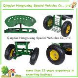 Portée en acier de travail de roulement de chariot de jardin avec la roue pneumatique