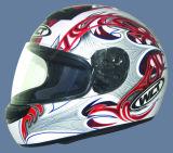 De Helm van de motorfiets (102-Red&White)