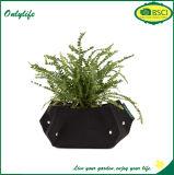 Onlylife Ecoの友好的なフェルト花のための円形ファブリック鍋かプランター
