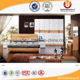 Живущий оптовая продажа двойной кровати твердой древесины мебели комнаты (UL-CH006)